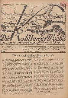 Die Kahlberger Woche Nr. 14, 13. August 1927, 2. Jahrgang