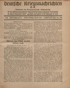 Deutsche Kriegsnachrichten (D.K.), Montag, 10. Juni 1918, Nr 240.