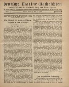 """Deutsche Marine=Nachrichten...""""D.K."""", Montag, 17. Juni 1918, Nummer 44."""