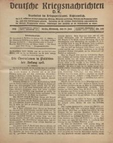 Deutsche Kriegsnachrichten (D.K.), Mittwoch, 19. Juni 1918, Nr 244.