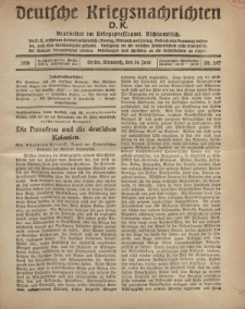 Deutsche Kriegsnachrichten (D.K.), Mittwoch, 26. Juni 1918, Nr 247.