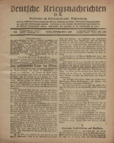Deutsche Kriegsnachrichten (D.K.), Montag, 1. Juli 1918, Nr 249.