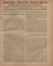 """Deutsche Marine=Nachrichten...""""D.K."""", Montag, 8. Juli 1918, Nummer 47."""