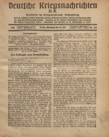 Deutsche Kriegsnachrichten (D.K.), Mittwoch, 10. Juli 1918, Nr 253.