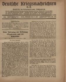 Deutsche Kriegsnachrichten (D.K.), Mittwoch, 17. Juli 1918, Nr 256.