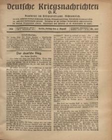 Deutsche Kriegsnachrichten (D.K.), Freitag, 2. August 1918, Nr 263.
