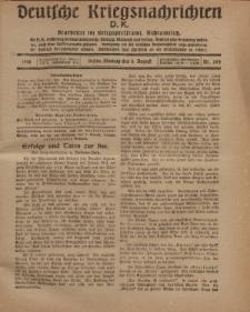 Deutsche Kriegsnachrichten (D.K.), Montag, 5. August 1918, Nr 264.