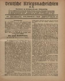 Deutsche Kriegsnachrichten (D.K.), Mittwoch, 7. August 1918, Nr 265.