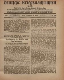 Deutsche Kriegsnachrichten (D.K.), Freitag, 9. August 1918, Nr 266.