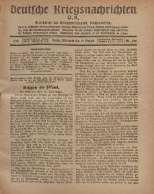 Deutsche Kriegsnachrichten (D.K.), Mittwoch, 14. August 1918, Nr 268.