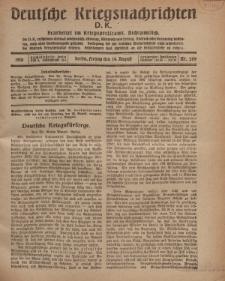 Deutsche Kriegsnachrichten (D.K.), Freitag, 16. August 1918, Nr 269.