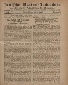 """Deutsche Marine=Nachrichten...""""D.K."""", Montag, 19. August 1918, Nummer 53."""