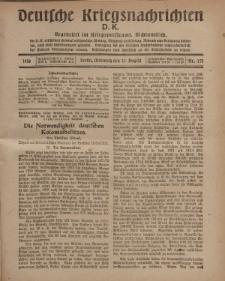 Deutsche Kriegsnachrichten (D.K.), Mittwoch, 21. August 1918, Nr 271.