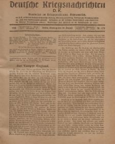 Deutsche Kriegsnachrichten (D.K.), Montag, 26. August 1918, Nr 273.