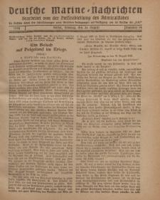 """Deutsche Marine=Nachrichten...""""D.K."""", Montag, 26. August 1918, Nummer 54."""