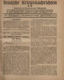 Deutsche Kriegsnachrichten (D.K.), Mittwoch, 28. August 1918, Nr 274.