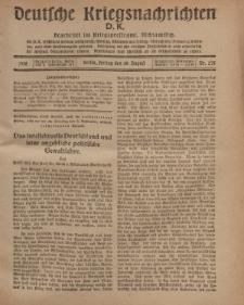 Deutsche Kriegsnachrichten (D.K.), Freitag, 30. August 1918, Nr 275.