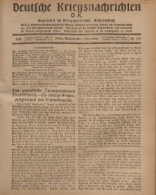 Deutsche Kriegsnachrichten (D.K.), Montag, 2. September 1918, Nr 276.