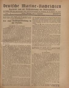 """Deutsche Marine=Nachrichten...""""D.K."""", Montag, 2. September 1918, Nummer 55."""