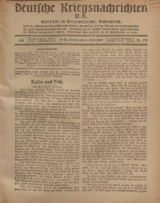 Deutsche Kriegsnachrichten (D.K.), Freitag, 6. September 1918, Nr 278.
