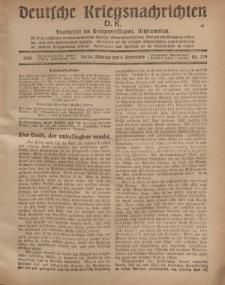 Deutsche Kriegsnachrichten (D.K.), Montag, 9. September 1918, Nr 279.