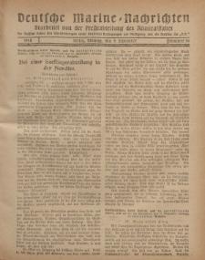 """Deutsche Marine=Nachrichten...""""D.K."""", Montag, 9. September 1918, Nummer 56."""