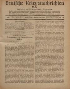 Deutsche Kriegsnachrichten (D.K.), Freitag, 13. September 1918, Nr 281.