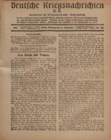 Deutsche Kriegsnachrichten (D.K.), Montag, 16. September 1918, Nr 282.