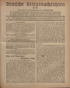 Deutsche Kriegsnachrichten (D.K.), Mittwoch, 18. September 1918, Nr 283.
