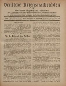 Deutsche Kriegsnachrichten (D.K.), Freitag, 20. September 1918, Nr 284.