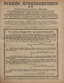 Deutsche Kriegsnachrichten (D.K.), Montag, 23. September 1918, Nr 285.