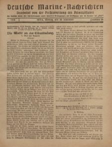 """Deutsche Marine=Nachrichten...""""D.K."""", Montag, 30. September 1918, Nummer 59."""