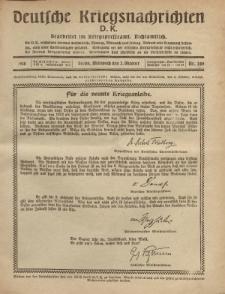 Deutsche Kriegsnachrichten (D.K.), Mittwoch, 2. Oktober 1918, Nr 289.