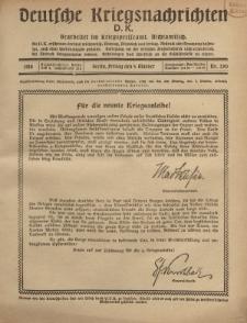 Deutsche Kriegsnachrichten (D.K.), Freitag, 4. Oktober 1918, Nr 290.