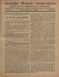 """Deutsche Marine=Nachrichten...""""D.K."""", Montag, 7. Oktober 1918, Nummer 60."""