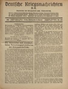 Deutsche Kriegsnachrichten (D.K.), Montag, 14. Oktober 1918, Nr 294.