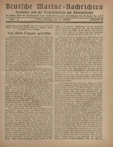 """Deutsche Marine=Nachrichten...""""D.K."""", Montag, 21. Oktober 1918, Nummer 62."""