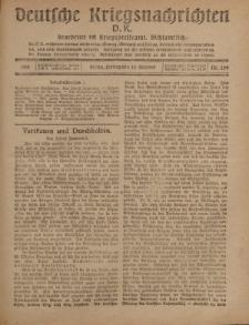 Deutsche Kriegsnachrichten (D.K.), Freitag, 25. Oktober 1918, Nr 299.