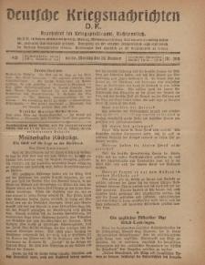 Deutsche Kriegsnachrichten (D.K.), Montag, 28. Oktober 1918, Nr 300.