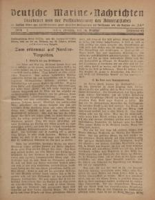 """Deutsche Marine=Nachrichten...""""D.K."""", Montag, 28. Oktober 1918, Nummer 63."""