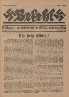 Befehl Nr. 6, 11. Februar 1933