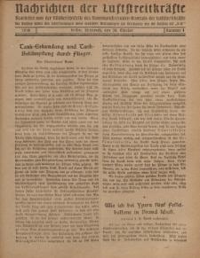 Nachrichten der Luftstreitkräfte... (D.K.), Mittwoch, 30. Oktober 1918, Nummer 4.