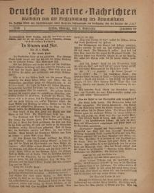 """Deutsche Marine=Nachrichten...""""D.K."""", Montag, 4. Vovember 1918, Nummer 64."""