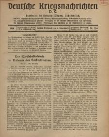 Deutsche Kriegsnachrichten (D.K.), Mittwoch, 6. November 1918, Nr 304.