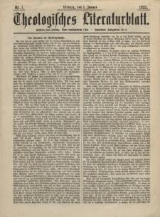 Theologisches Literaturblatt, 5. Januar 1883, Nr 1.