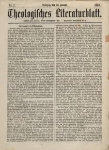 Theologisches Literaturblatt, 12. Januar 1883, Nr 2.