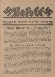 Befehl Nr. 7, 19. Februar 1933