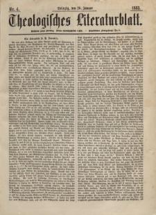 Theologisches Literaturblatt, 26. Januar 1883, Nr 4.
