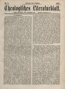 Theologisches Literaturblatt, 9. Februar 1883, Nr 6.