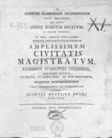 Ad Gymnasii Elbingensis Solemnitatem... d. XXII Aprilis MDCCLXXXX publica auctoritate habendam...